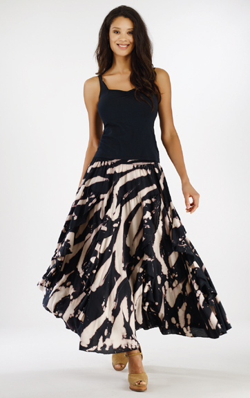 Luna Luz Rain Forest Ruffled Skirt