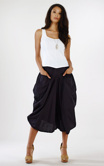 Luna Luz Garment Dyed Princess Sleeveless Top and Positano Coulotte Pant