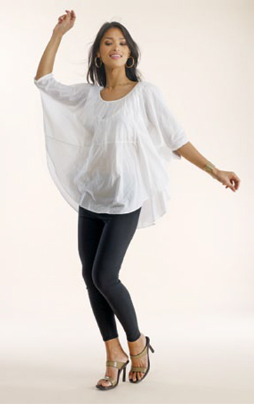 Luna Luz Garment Dyed Poncho Top