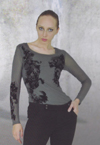 Dzhavael Couture Flocked Top