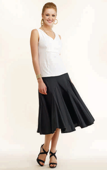 Luna Luz Garment Dyed Cross Over Sleeveless Top  and Multi Paneled Skirt