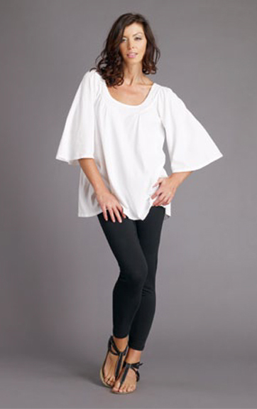 Luna Luz Garment Dyed Tunic with 3/4 Bell Sleeves and Leggings