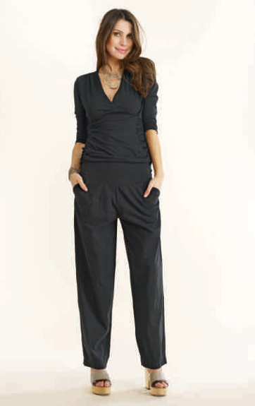 Luna Luz Garment Ruched 3/4 Sleeve Top  and Soft Yoke Pant