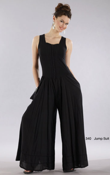 Luna Luz Garment Dyed Button Front Jumpsuit